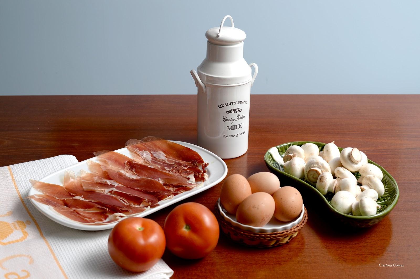 Mushroom, Ham & Tomato Quiche Recipe