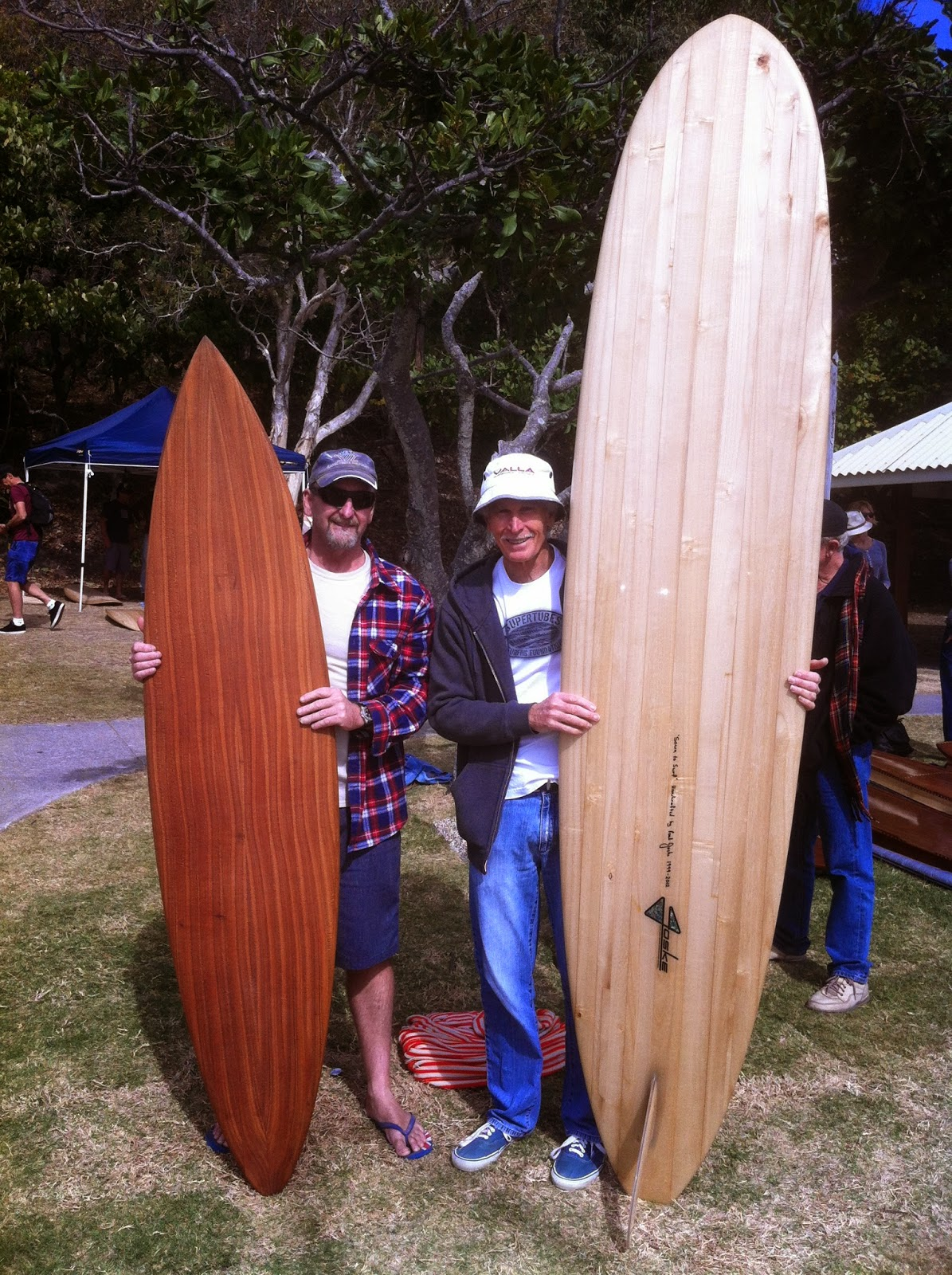 paul joske wooden surfboard