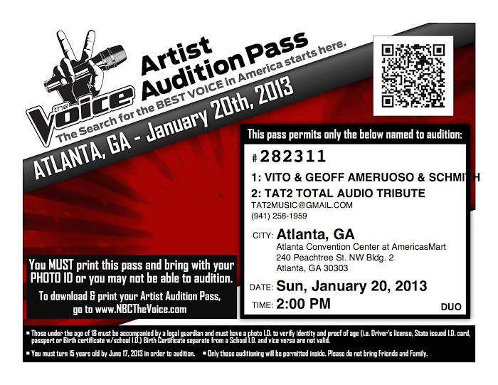 TAT2 VOICE AUDITIONS