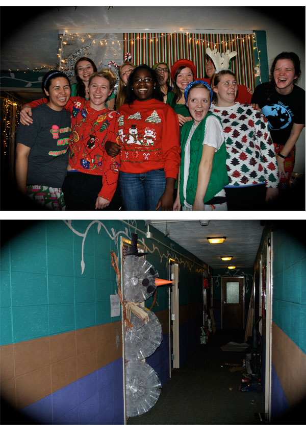 Flashback Summer: Christmas Festivities Come to the Dorm- Evangel University Spence girls