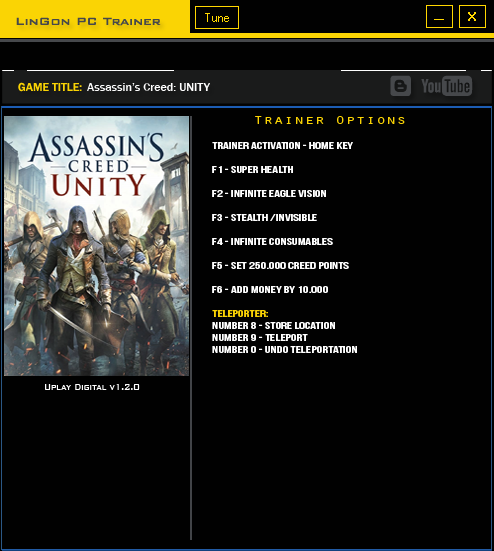 Assassins Creed UNITY trainergames
