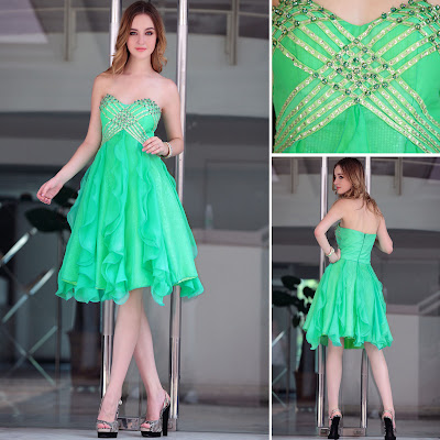 Sage Sweetheart Knee Length Dress