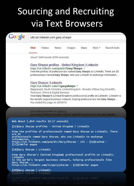 Text browser internet sourcing