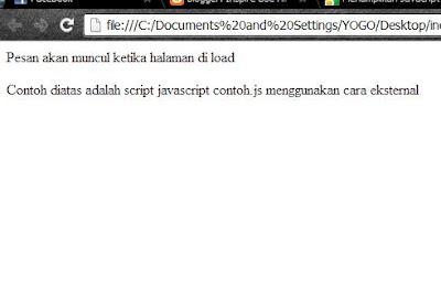 Penulisan Javascript