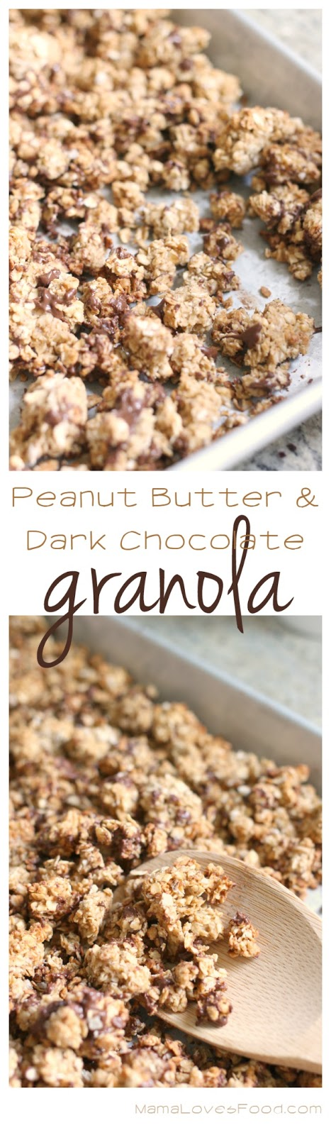 Peanut Butter Dark Chocolate Granola Recipe