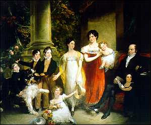 Nathan Rothschild and his family by William Hobday, 1821