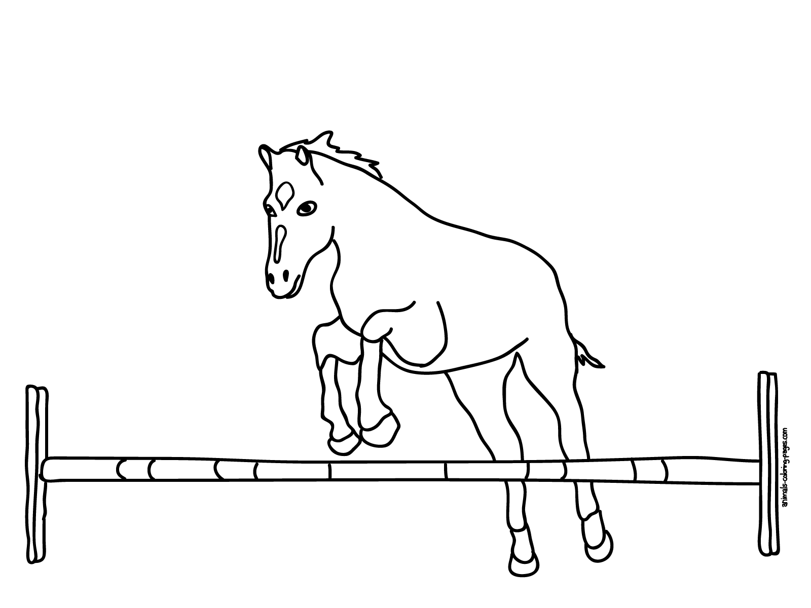 Horse jumping coloring pages to print - crazywidow.info