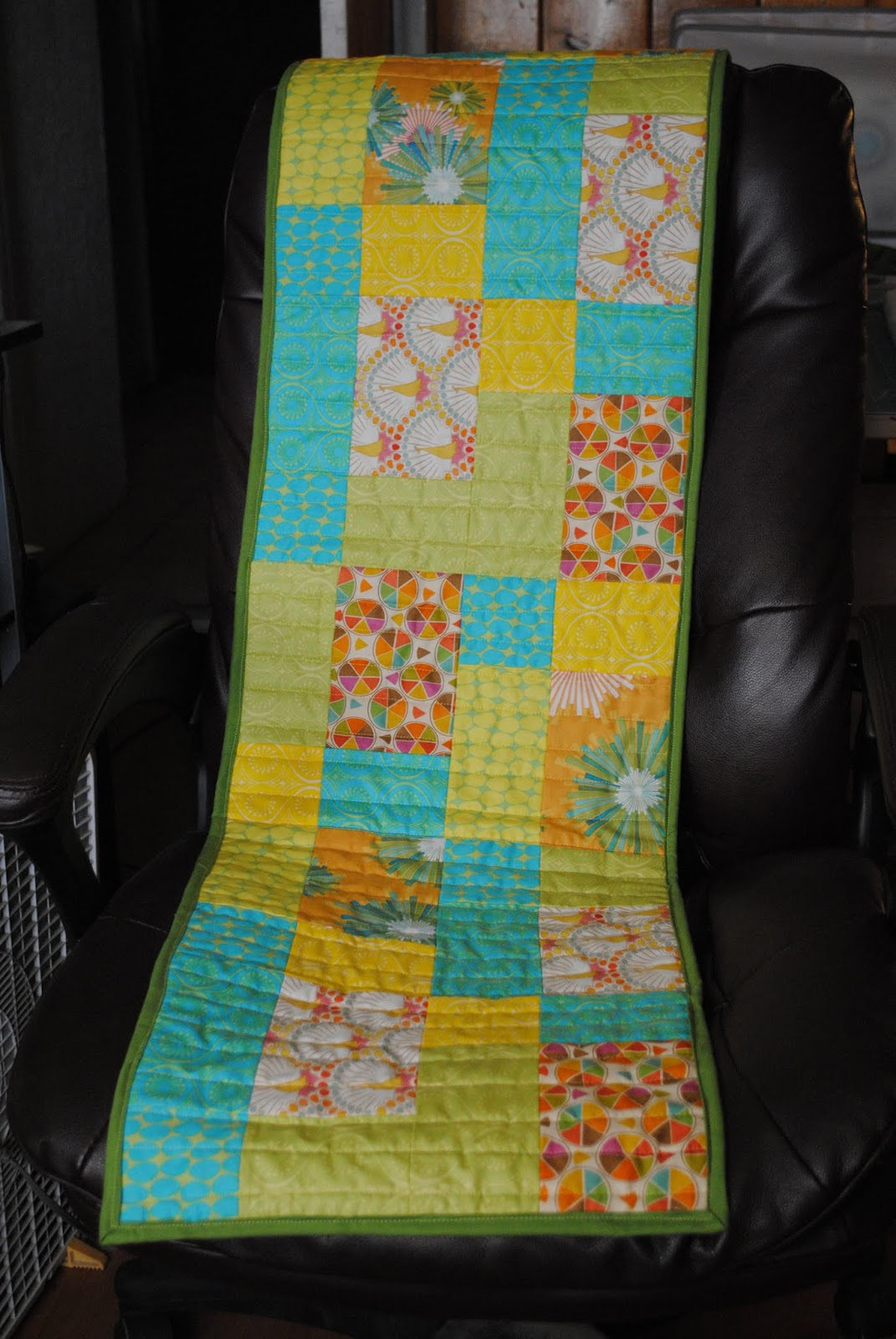 Completed Frippery Table Runner