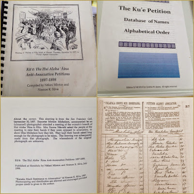 Images of the Ku'e petition, signed by citizens against the annexation of Hawaii