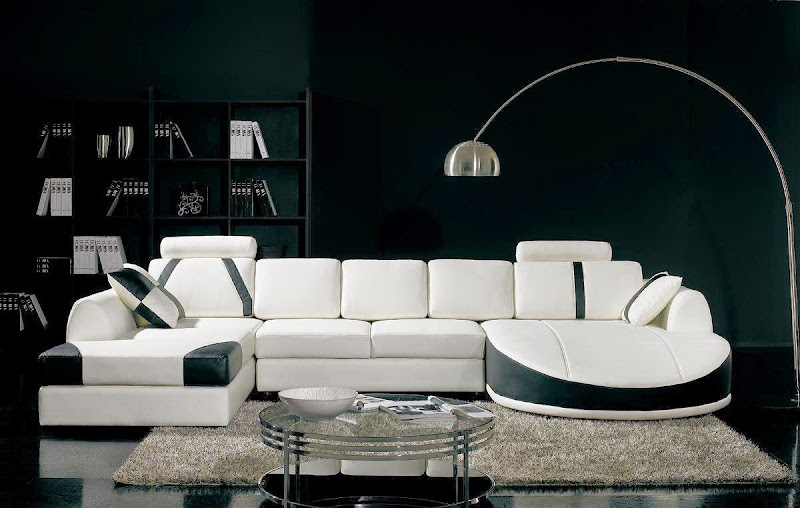Black And White Leather Sofa Ebay (7 Image)