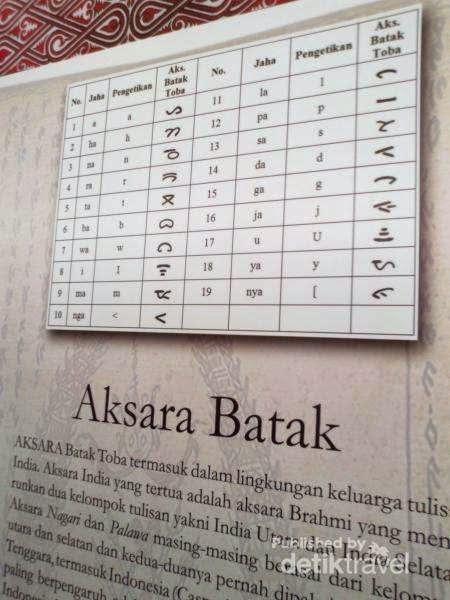 Aksara Batak di Museum Batak di Balige
