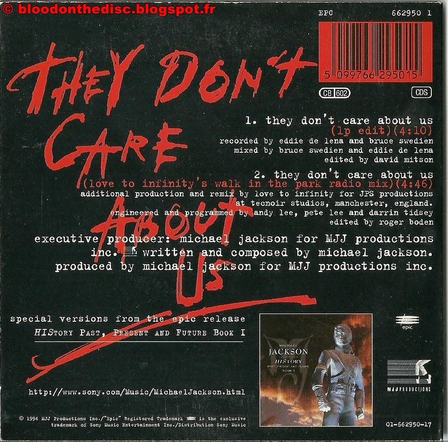 They Don't Care About Us pochette arrière