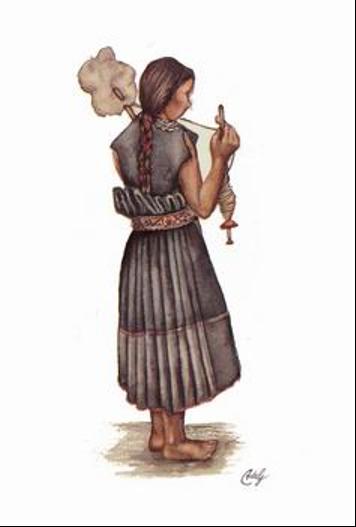 año.: La mujer durante los primeros años de la colonia española