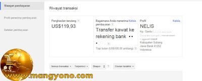 Awalnya pengaturan untuk menerima pembayaran