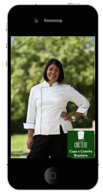 Aplicativo produzido por chef Cris Leite
