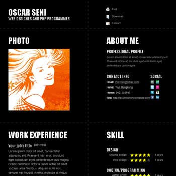 Deep Typography blogger template. portfolio blogspot template