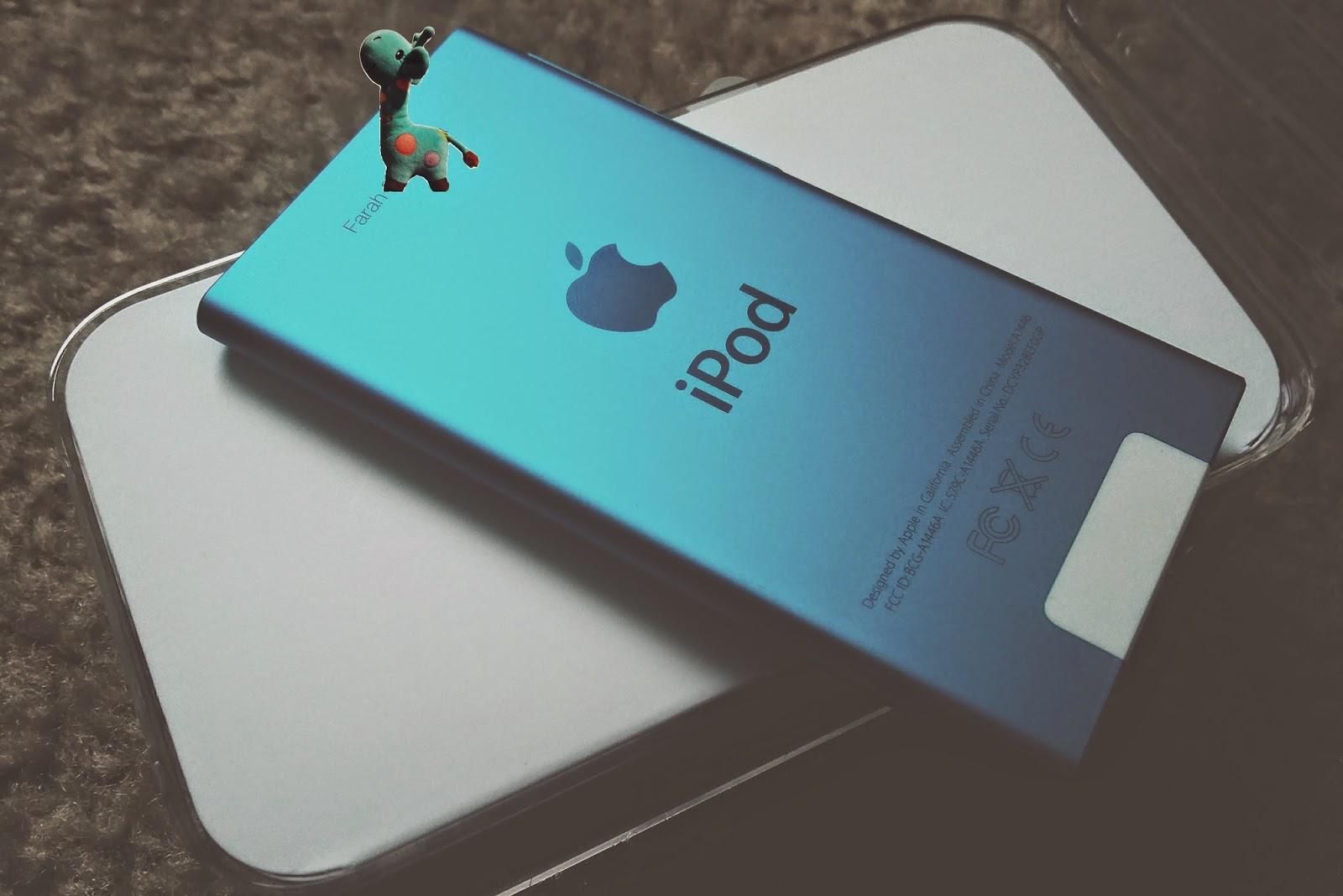 Personalized iPod nano blue