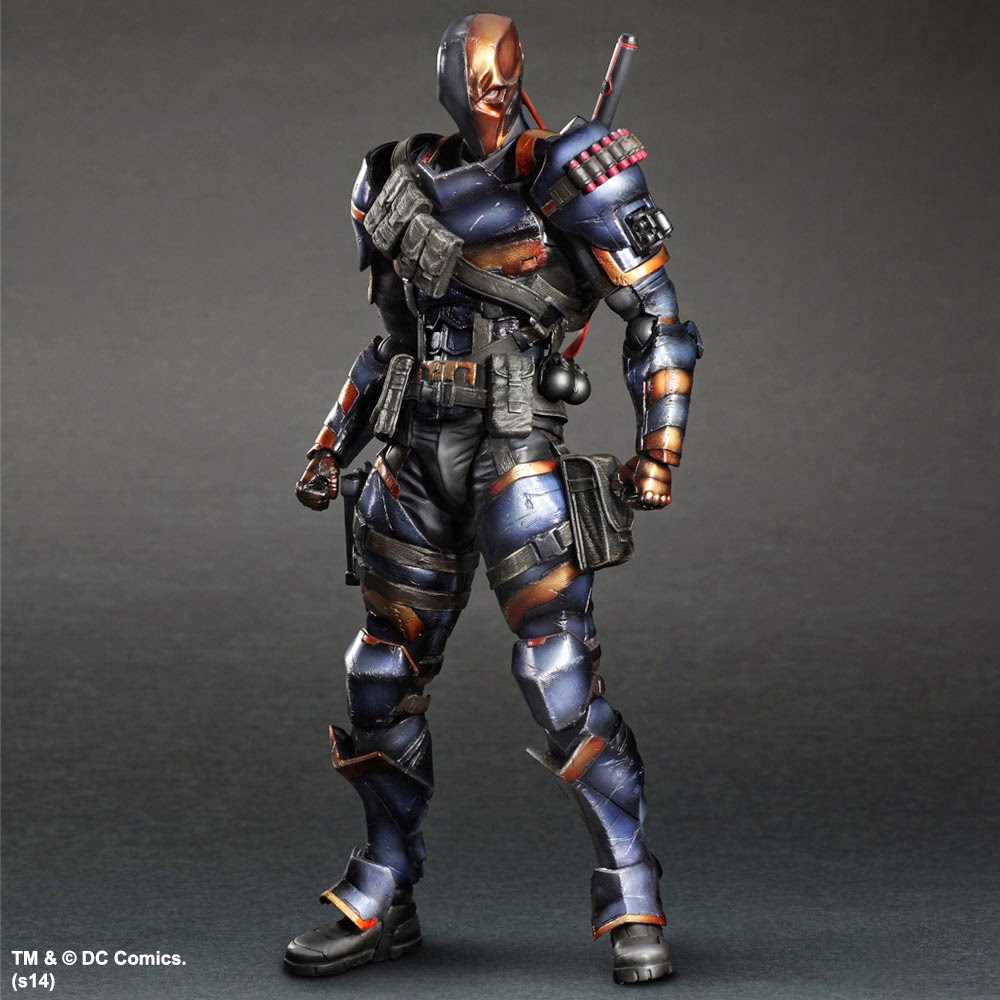 New York Comic Con 2014 Exclusive Metallic Deathstroke Batman: Arkham Origins Play Arts Kai Action Figure by Square Enix