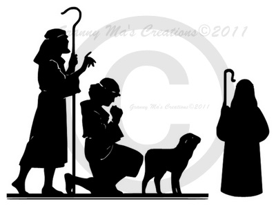 granny mas creations last nativity silhouette
