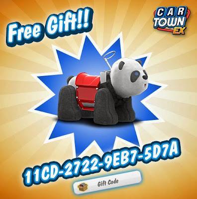 Car Town EX Free Gift Melody Panda