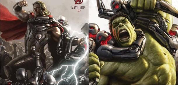 Thor e Hulk em artes conceituais inéditas de Os Vingadores 2: A Era de Ultron