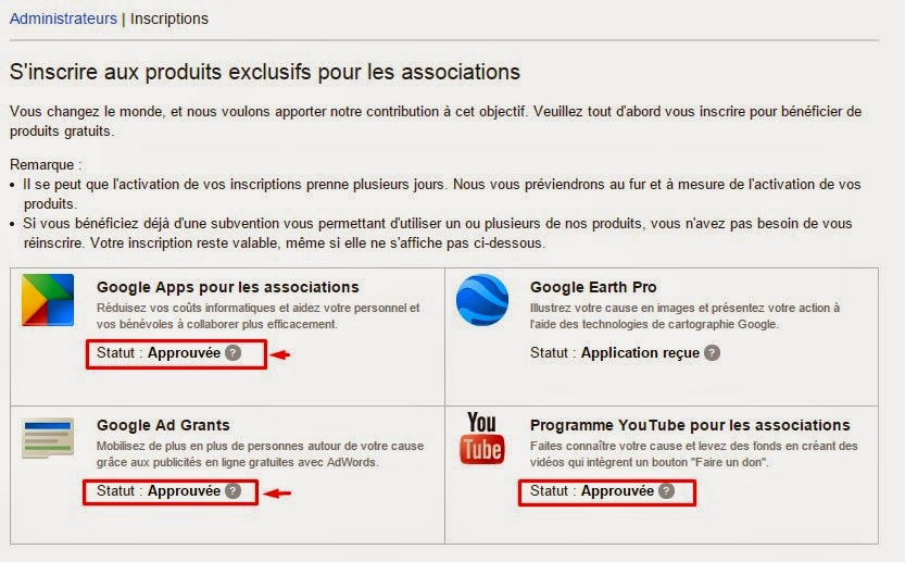 Google Apps gratuit pour les associations