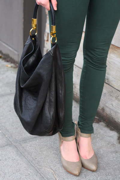 green pants Seattle Street Style ankle strap