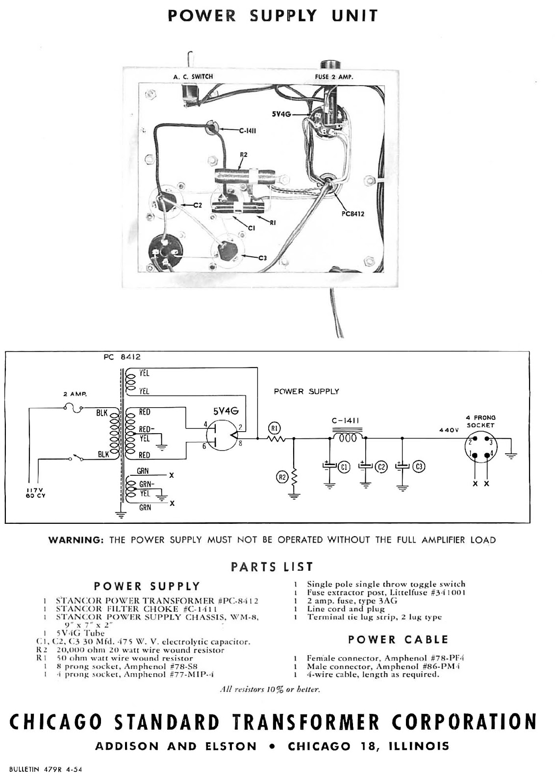 Roberts Projects Stancor Ultralinear Amplifier The Original Williamson Hifi Schematic As Published In Power Supply Is Simple Supplies Are Only Large Enough For A Single And Will Overheat If Two Amps Connected To One