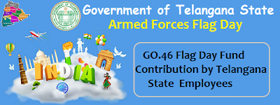 Government of Telangana State,  Home Department has issued G.O.Ms.No.46 on today. With the reference of Sainik Wlfare letter, Govt. has examined of this letter After,  Government has issued fresh orders for deducting Rs.20/ and Rs.50/-  from the December salaries of the Non-Gazetted employees and Gazetted Officers