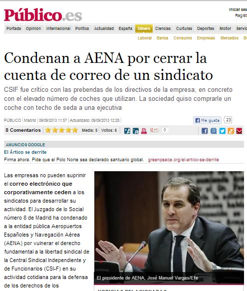 AENA/Enaire: #STOP CENSURA