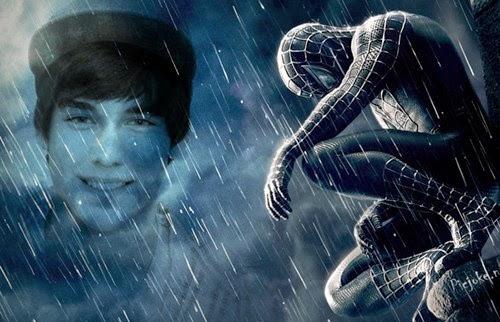 Montagem de fotos online Homem aranha com efeito