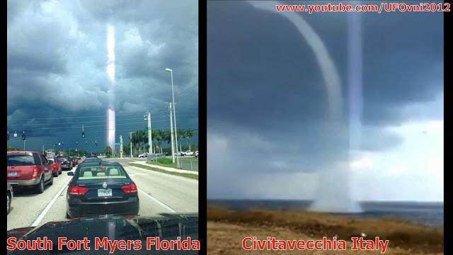 Grand faisceau Au sud de Fort Myers FLoride, États-Unis 15/08/2015, Civitavecchia Italie 10/8/2015