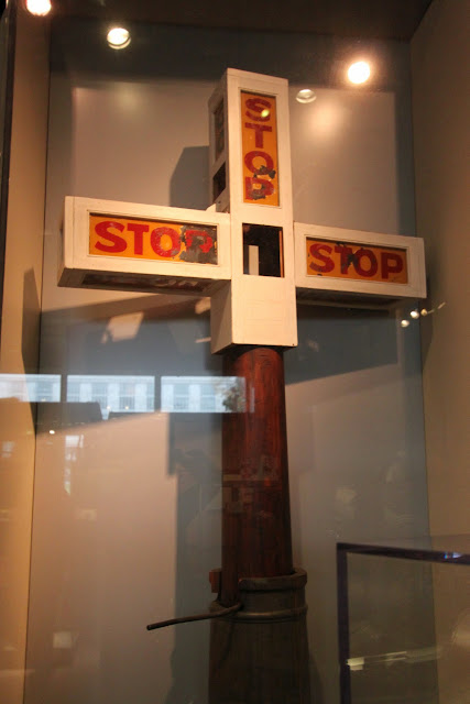 Stop traffic stand at National Museum of American History in Washington DC, USA