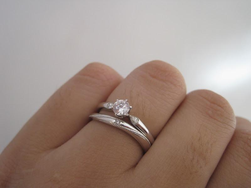 婚約指輪と結婚指輪の重ねづけ!