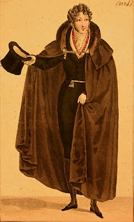 Cape with mantelet and collar