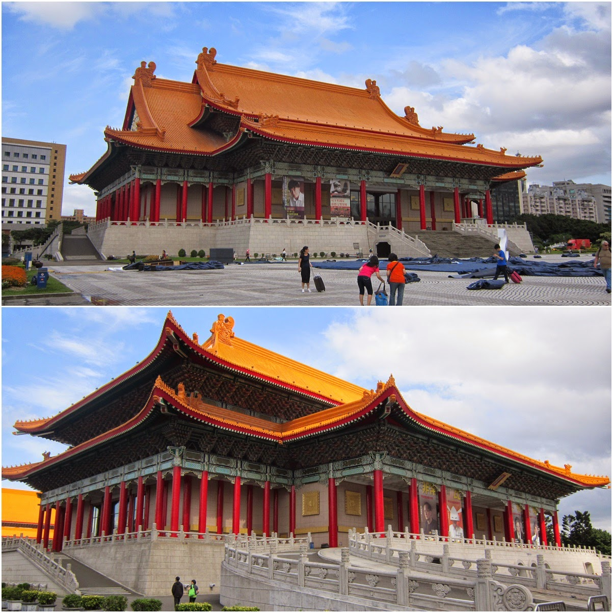 The Concert Hall (top) and The Theatre Hall (bottom) at Chiang Kai Shek Memorial Hall in Taipei, Taiwan