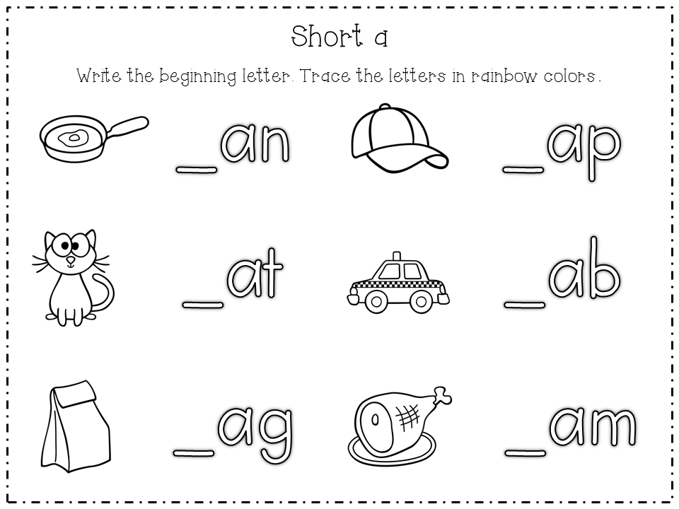 Cvc Worksheets For Kindergarten free cvc worksheet learning with – Cvc Kindergarten Worksheets