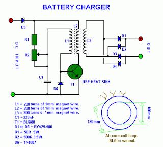 Ada banyak model rangkaian charger, khususnya untuk accu motor dan ...