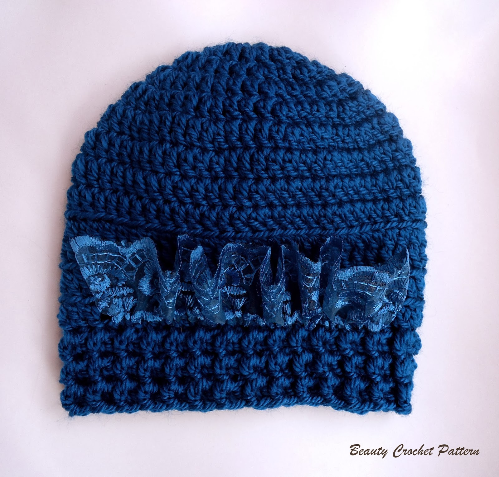 Free Crochet Baby Lacy Hat Pattern : Beauty Crochet Pattern: BABY CROCHET HAT PATTERN WITH LACE ...