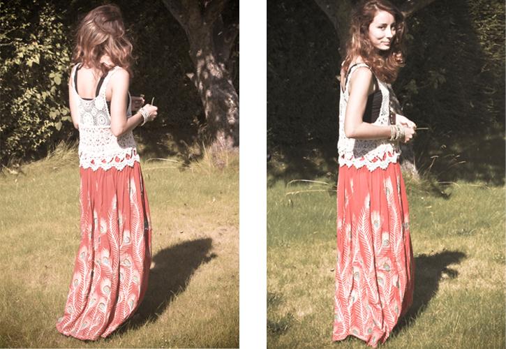 ethnic gypsy style, ethnic bohemian style, crochet top, asos bralet, ethnic statement jewellery, ethnic style