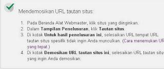 Petunjuk Mendemonasikan URL
