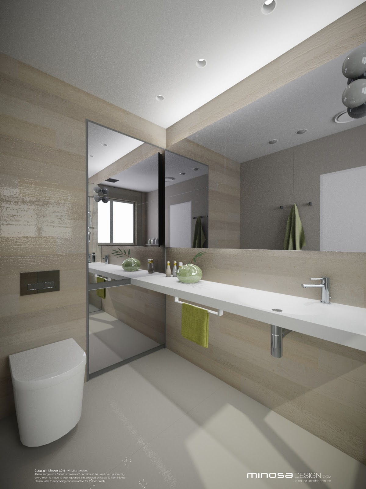 Minosa bringing sexy back the modern bathroom for Ensuite lighting ideas