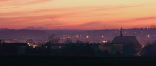 Panorama i miraż Tatr z Kolbuszowej (zima 2012), fot. Paweł Rzucidło, Płaskowyż Kolbuszowski, Puszcza Sandomierska