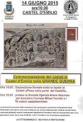 Castel d'Emilio 14 giugno 2015. Commemorazione della Morte del Cap. Milesi Ferretti