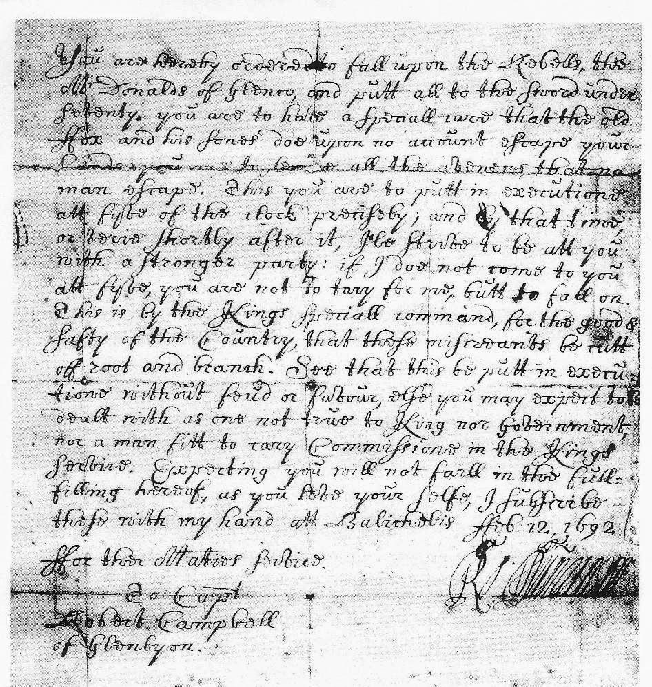 18th century, Glencoe, McDonalds, Glencoe Massacre, Karin Bowie