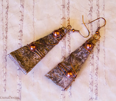 gunadesign guna andersone Eco Jewelry- Earrings from Birch Bark