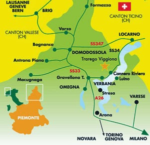 Digitale kaart van Zwitserland en Noord Italië