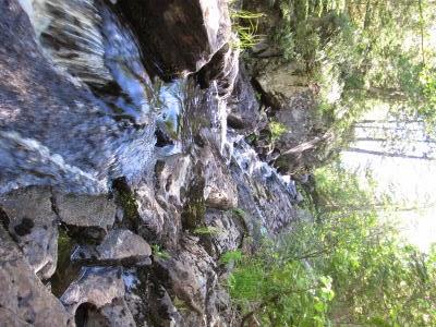 waterfall in a rocky flume