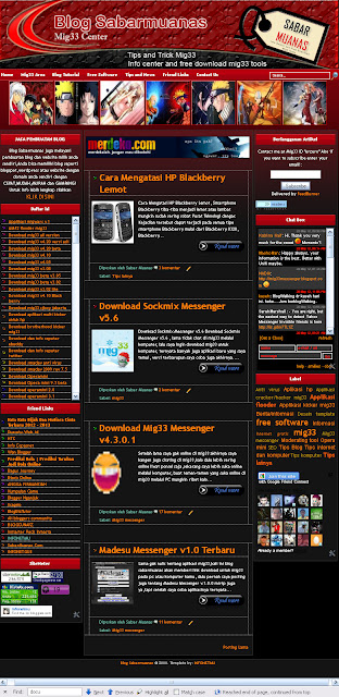 Infonetmu red SEO Blogger template