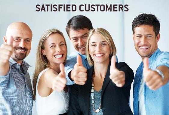 Happy Satisfied Customer